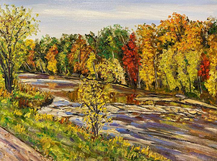 Westfield River Fall Colors - Richard Nowak Fine Art