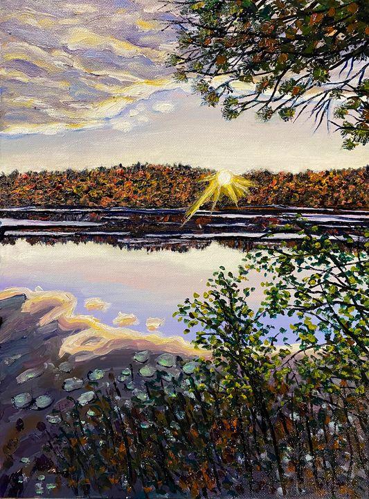 Quabbin Sunset - Richard Nowak Fine Art