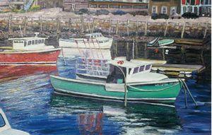 Green Boat in Rockport - Richard Nowak Fine Art