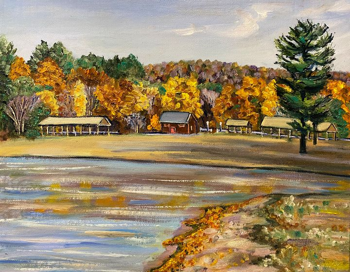 Hampton Ponds Beach, Autumn Colors - Richard Nowak Fine Art