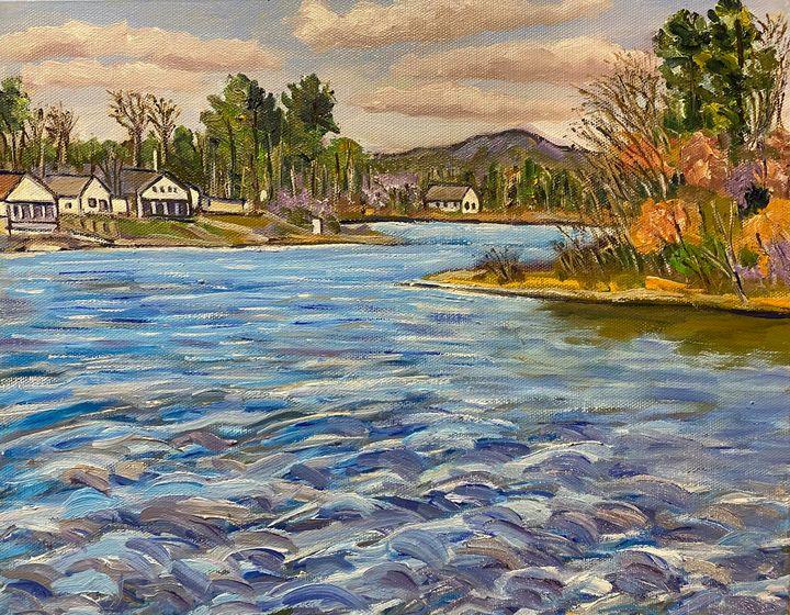 Hampton Ponds by the Boat Ramp - Richard Nowak Fine Art