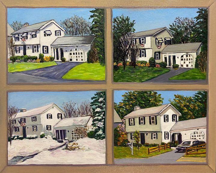Family House in Four Seasons - Richard Nowak Fine Art