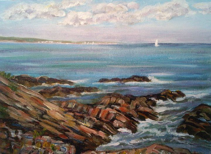 Rocks Along Maine Coast - Richard Nowak Fine Art
