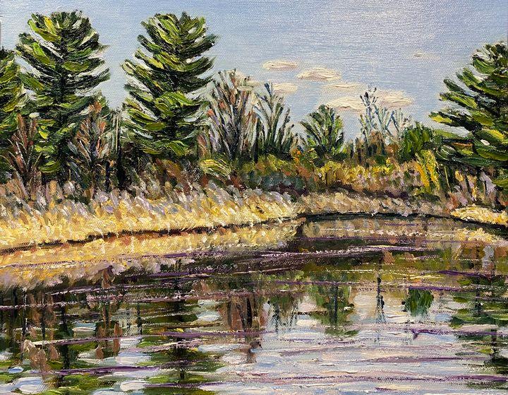 Hampton Ponds April Afternoon - Richard Nowak Fine Art