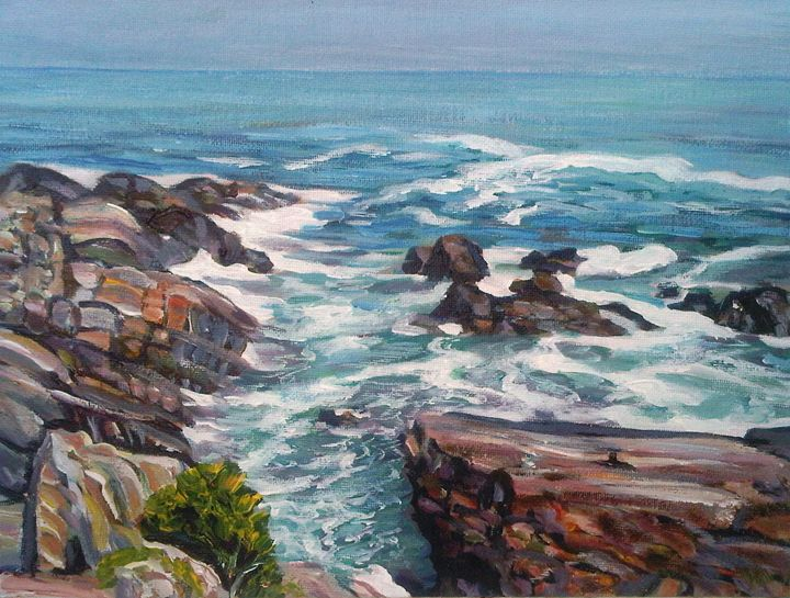 Maine Coast with Rocks - Richard Nowak Fine Art
