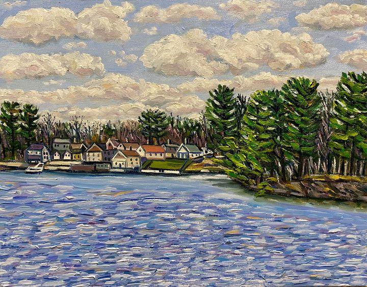April Clouds Over Hampton Ponds - Richard Nowak Fine Art