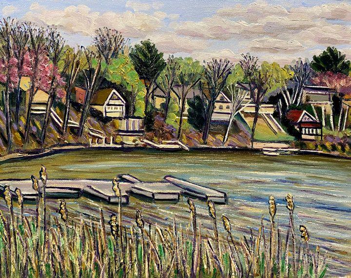 Congamond Lakes, April View - Richard Nowak Fine Art