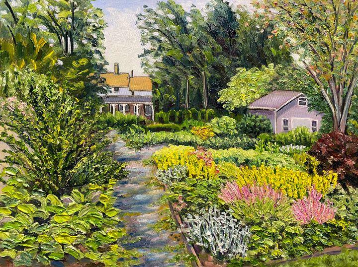 June in Grandmother's Garden - Richard Nowak Fine Art