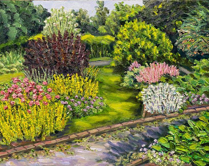 June Blossoms in Grandmother's Garde - Richard Nowak Fine Art