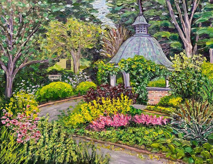 June Garden at Grandmother's Garden - Richard Nowak Fine Art