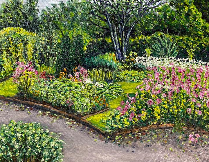 July in Grandmother's Garden - Richard Nowak Fine Art