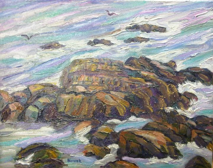 Rocks Along the Maine Coast - Richard Nowak Fine Art
