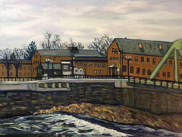 Westfield Buildings-From Bridge - Richard Nowak Fine Art