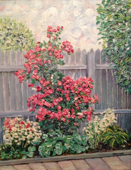 Backyard Roses - Richard Nowak Fine Art