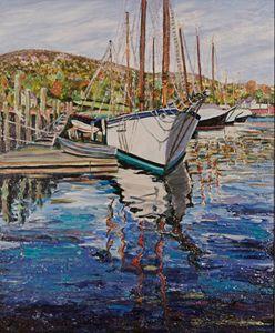 Maine Boat Reflections - Richard Nowak Fine Art
