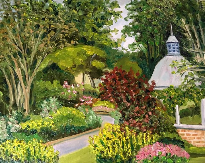 Grandmother's Garden Summer Day - Richard Nowak Fine Art