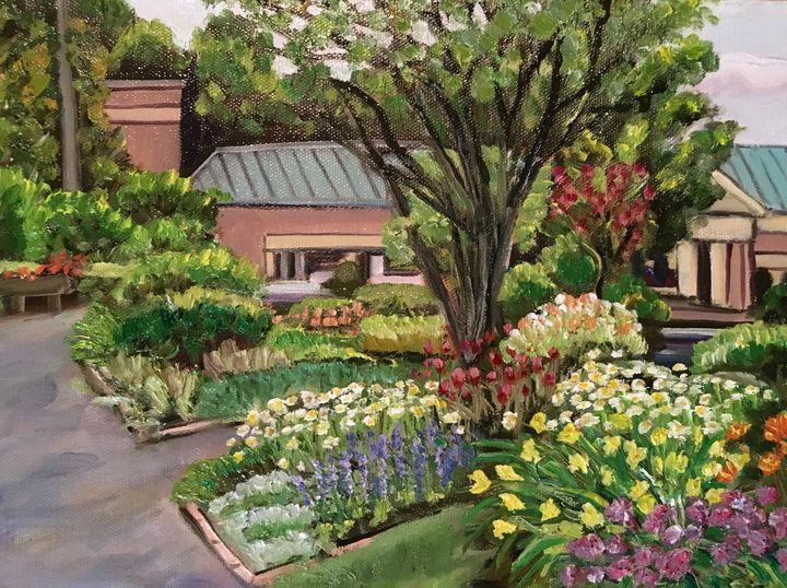 Grandmother's Garden with School - Richard Nowak Fine Art