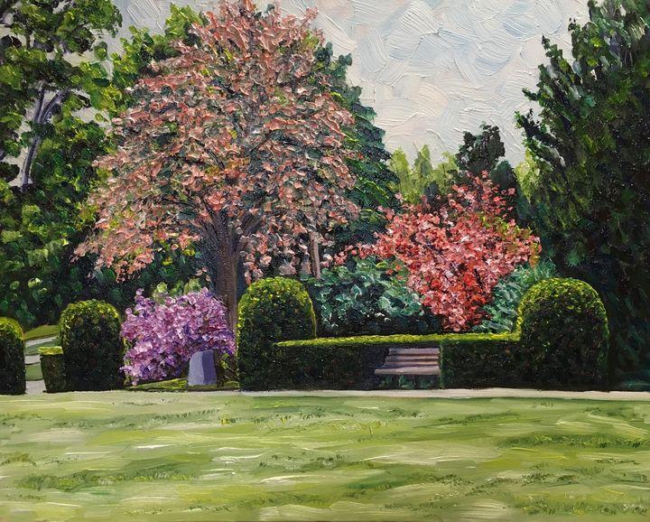 Veteran's Park Spring - Richard Nowak Fine Art