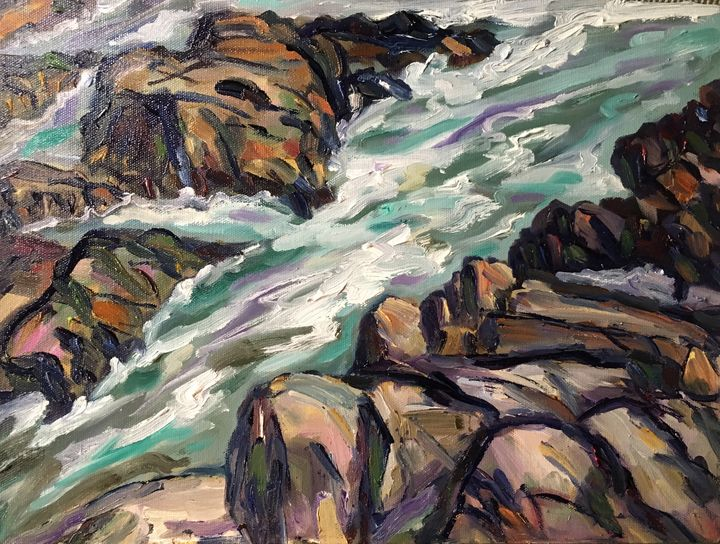 Rocks and Surf, Along Marginal Way - Richard Nowak Fine Art