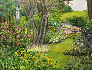 Birdhouse at Grandmother's Garden - Richard Nowak Fine Art
