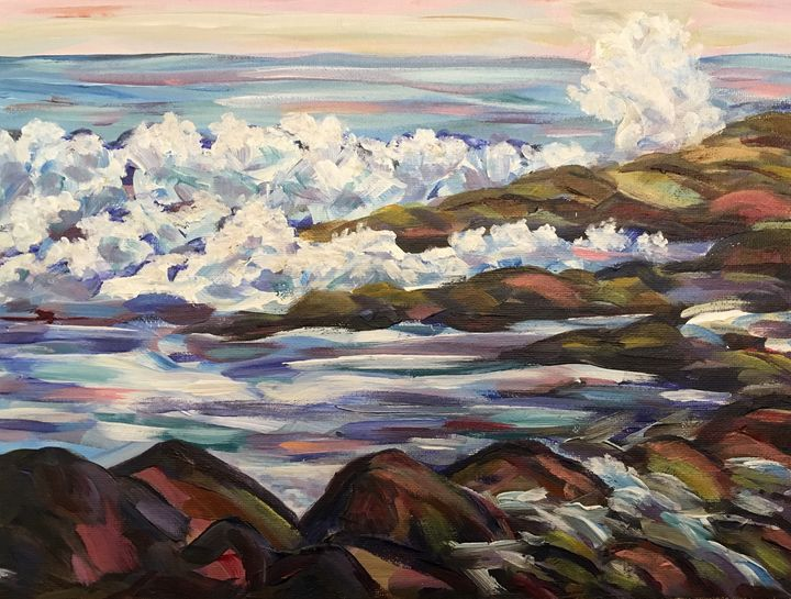 Maine Crashing Waves - Richard Nowak Fine Art