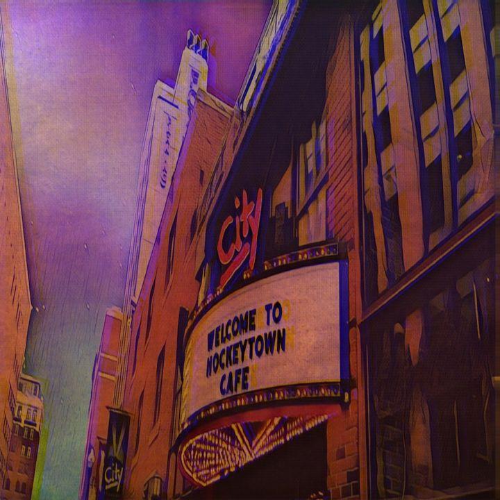 Hockey town cafe - Patricia Maitland's cover art