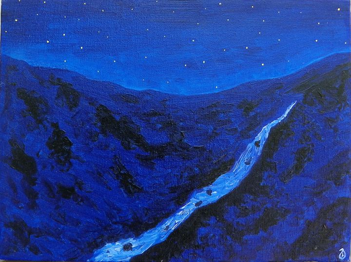 Night at mountains - Giorgi Sibashvili