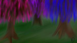 Trees of Color - Crazy Crafty Chicks