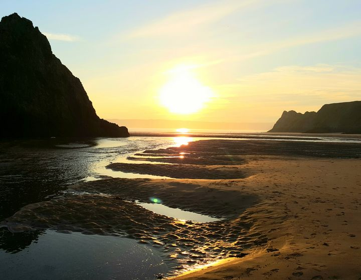 Three cliffs sunset - Jamie Pedro