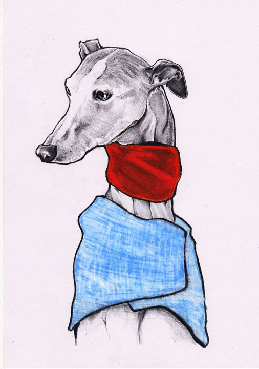Darcy Whippet - Jim Griffiths Art