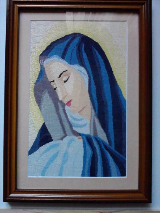 Virgen Maria - Georgeta's Needlepoint Art