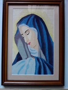 Virgen Maria - Georgeta's Needlepoint Art