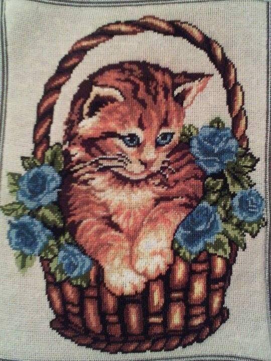 Kitten - Georgeta's Needlepoint Art