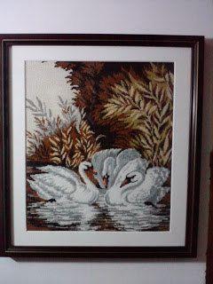 Swans - Georgeta's Needlepoint Art