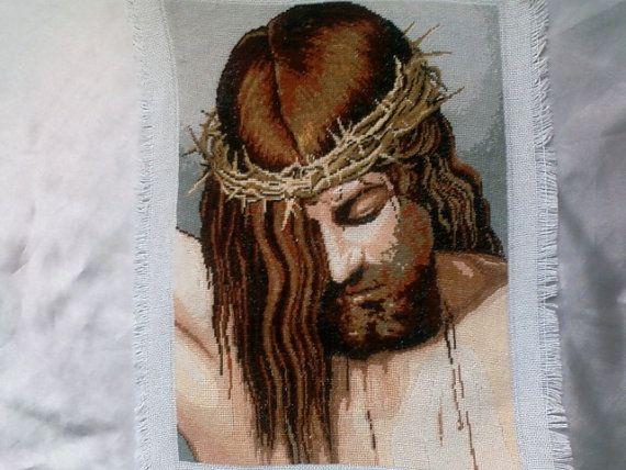 Jesus - Georgeta's Needlepoint Art