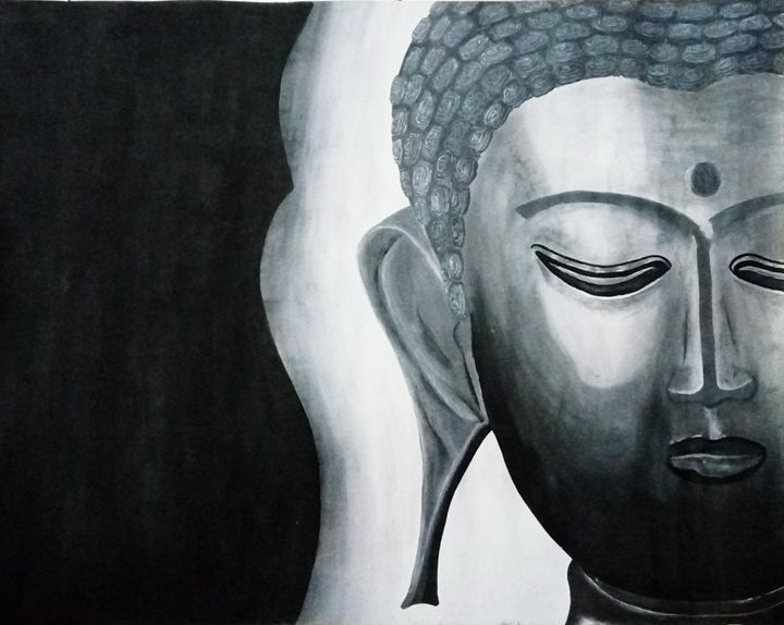 Buddha Worship - My Paintings