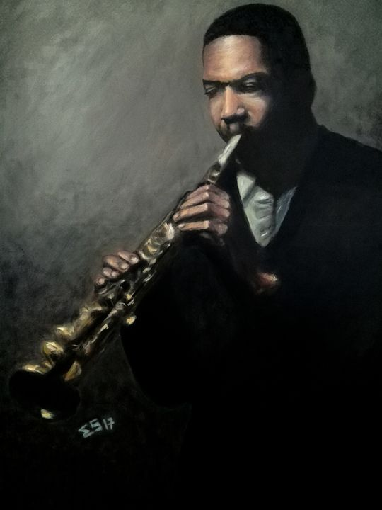 Jazz Man Coltrane - Mr. & Mrs. Sabio Art Gallery