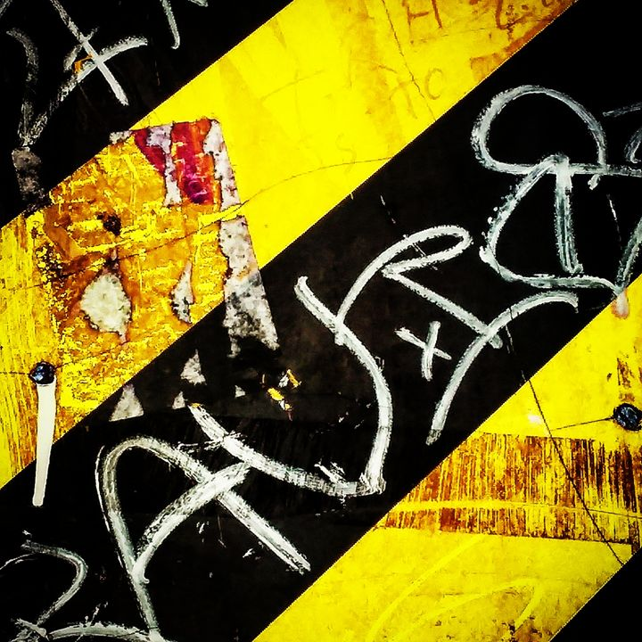 Caution - Aroura Abstract Art