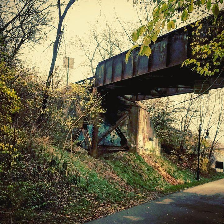 The Bridge - Aroura Abstract Art