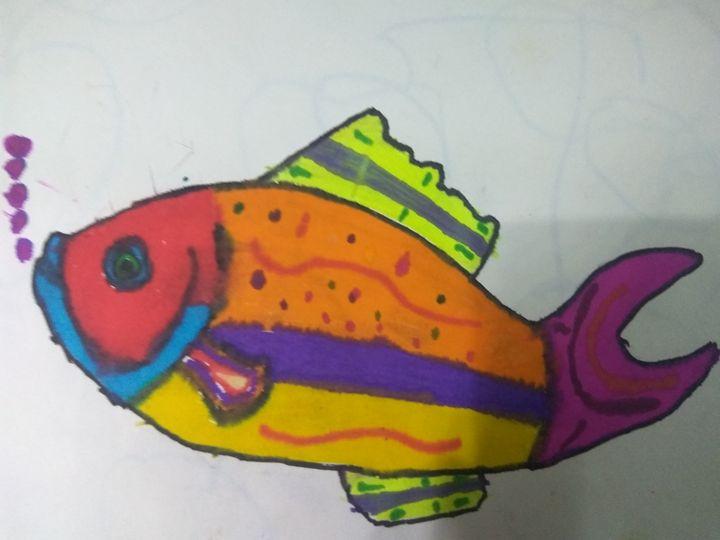 Watercolor fish - Ronit