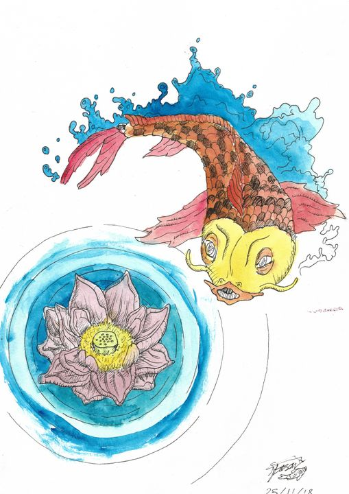 Tranquil Lotus and Carp - Jacob Eason