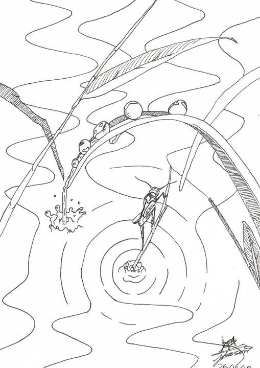 Hopper in a pond (LW) - Jacob Eason