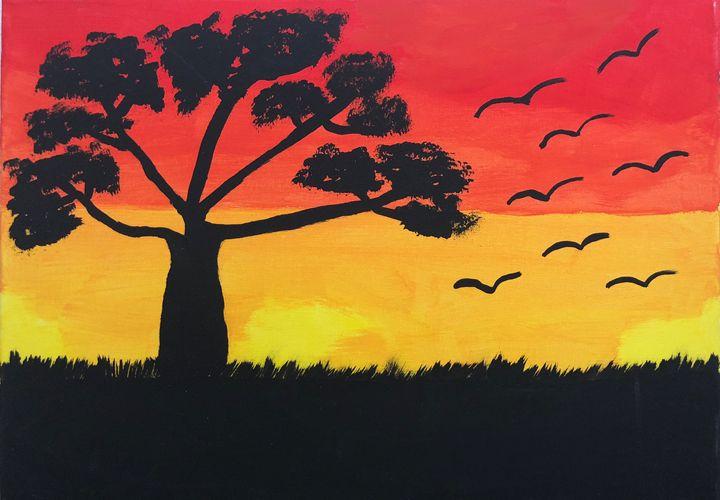 African Sunset - Carol Damico
