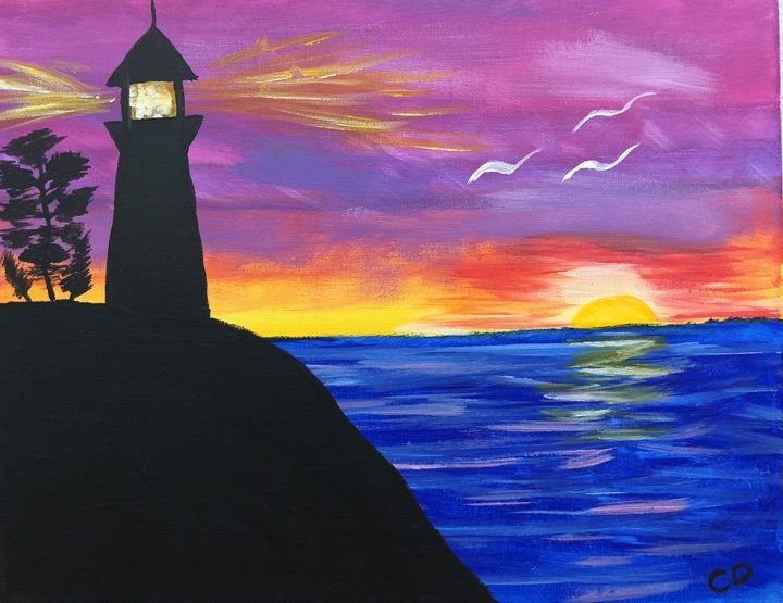 Beach Lighthouse - Carol Damico