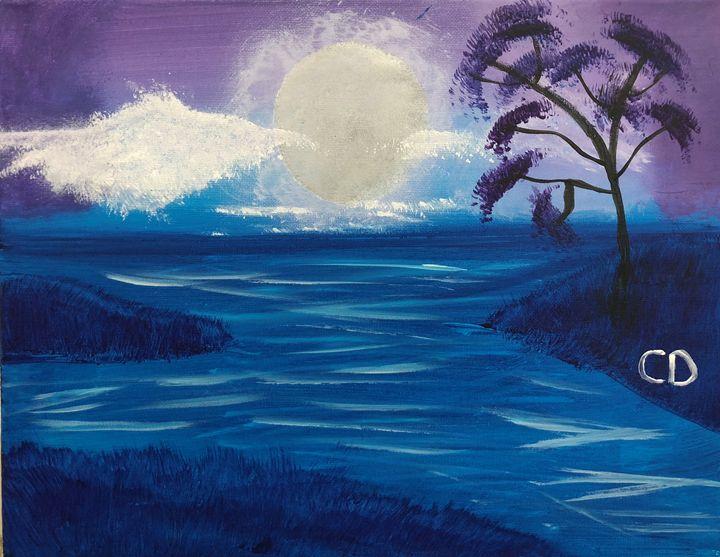 Misty River Night - Carol Damico