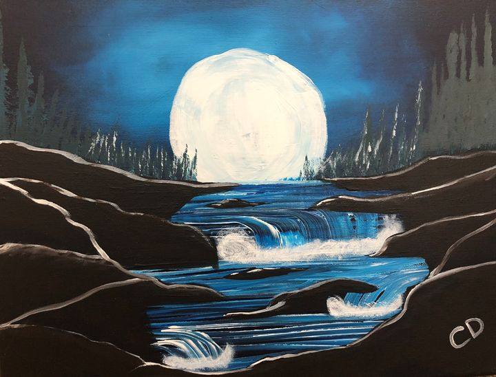 Moon Over River - Carol Damico