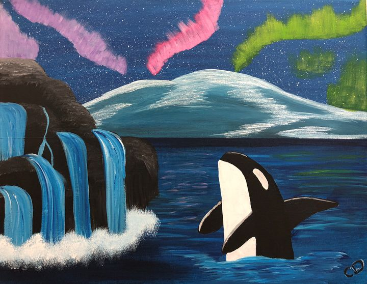 Whale of Northern lights - Carol Damico