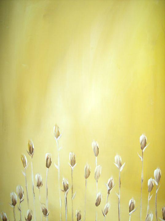 Mustard/Yellow Flowers - S.H-Duffy