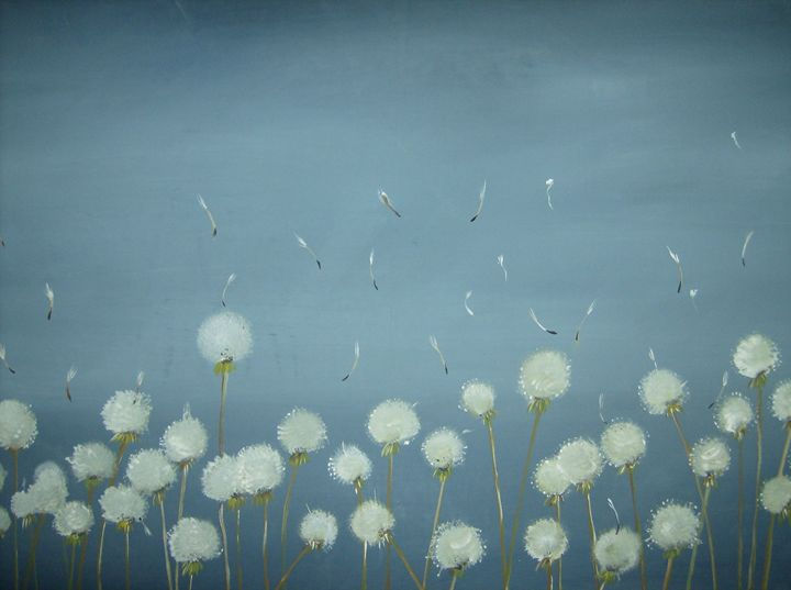 Dandelions Going to Seed - S.H-Duffy