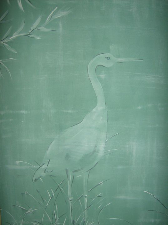 White Heron Floridian Design - S.H-Duffy